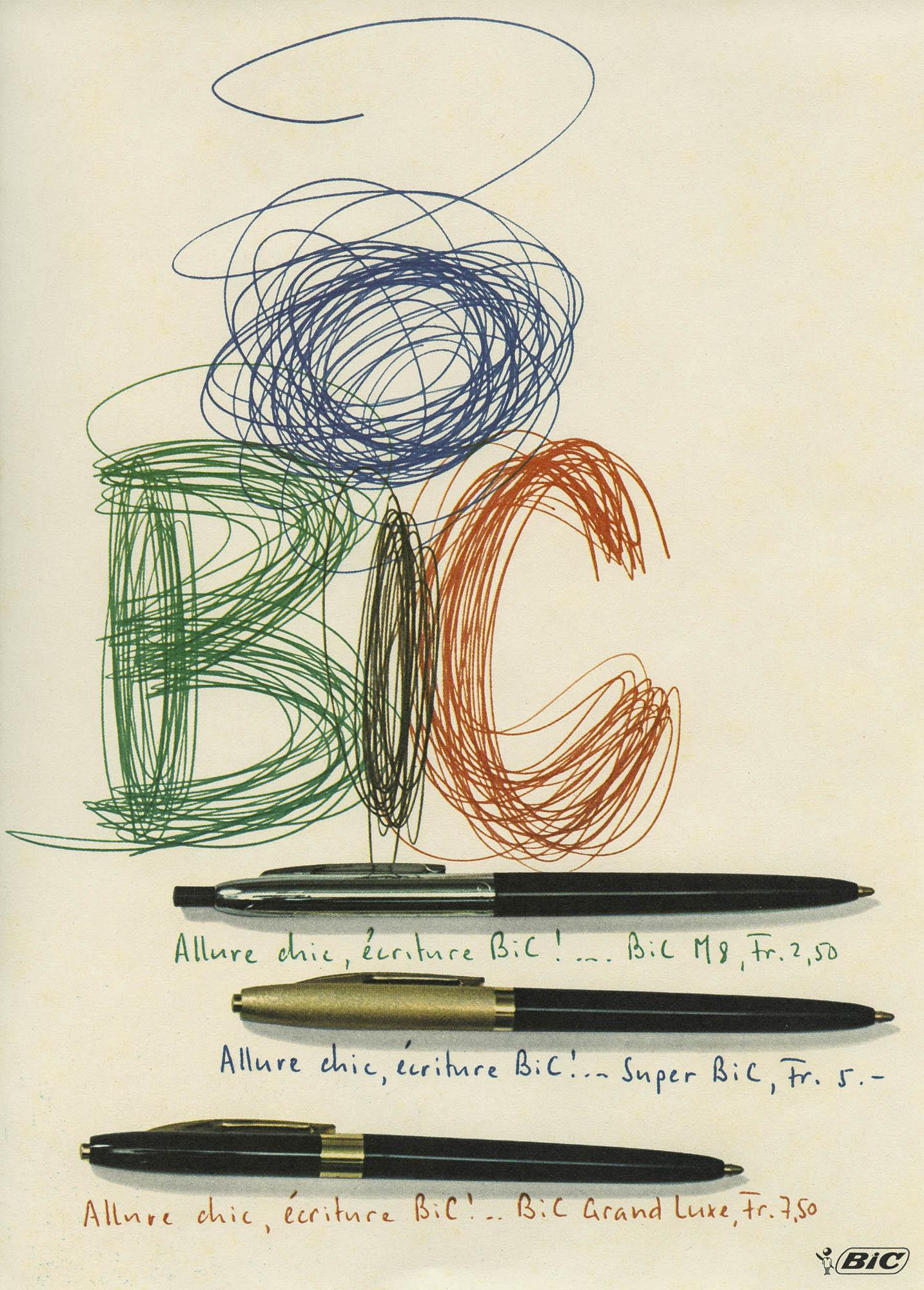 Bic – Kugelschreiber Ruedi Külling Plakat