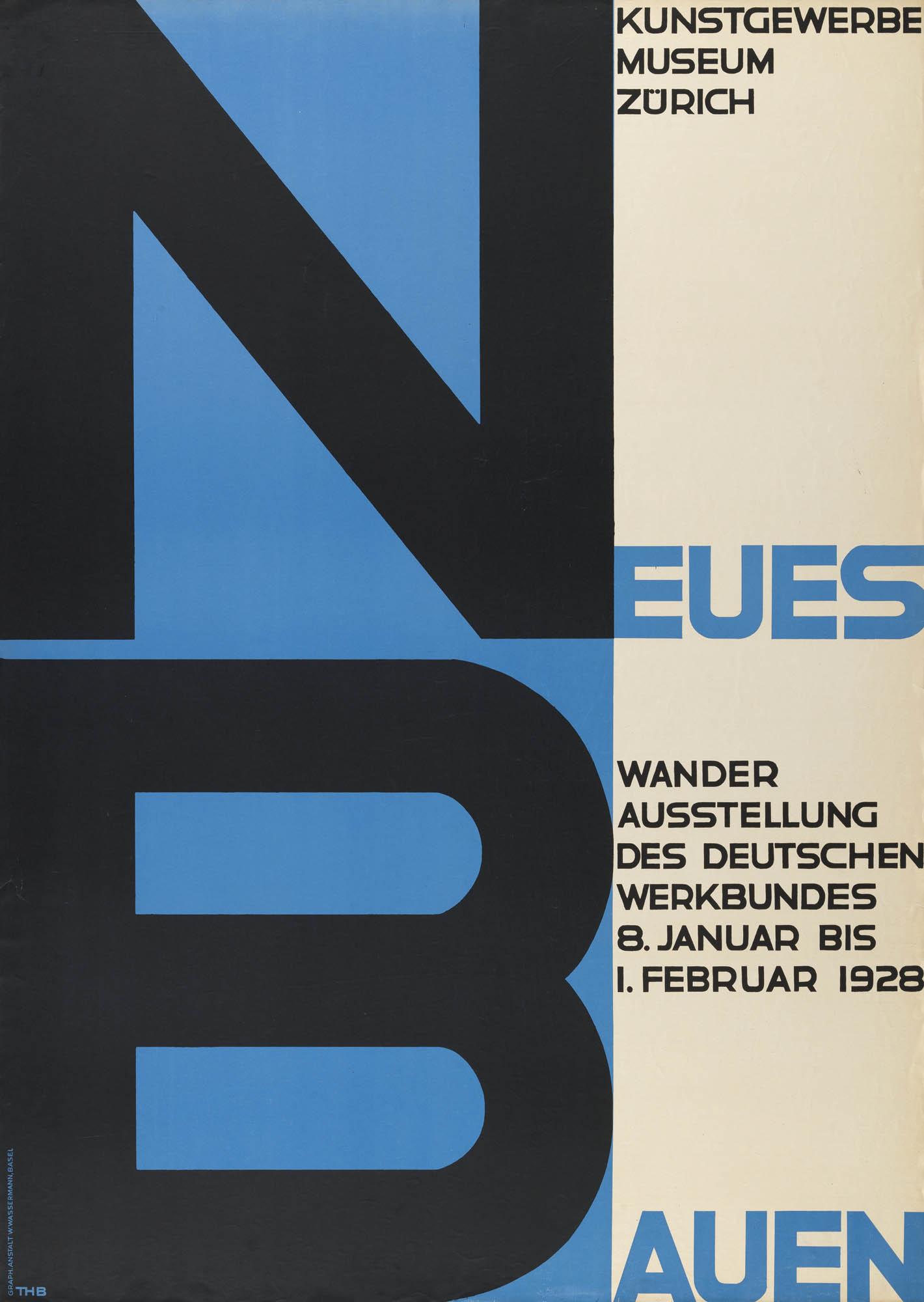 Schweizerische Städtebauausstellung – Kunsthaus Zürich Niklaus Stoecklin Affiche