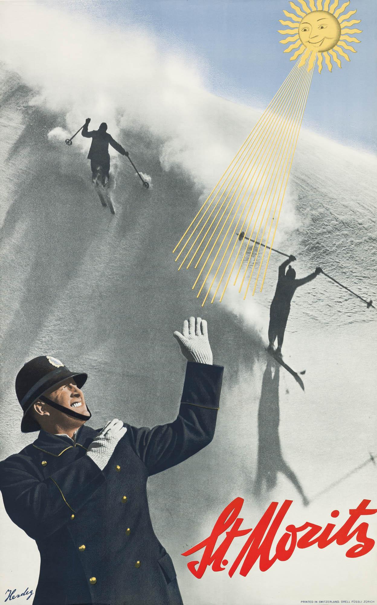 St. Moritz Walter Herdeg Plakat