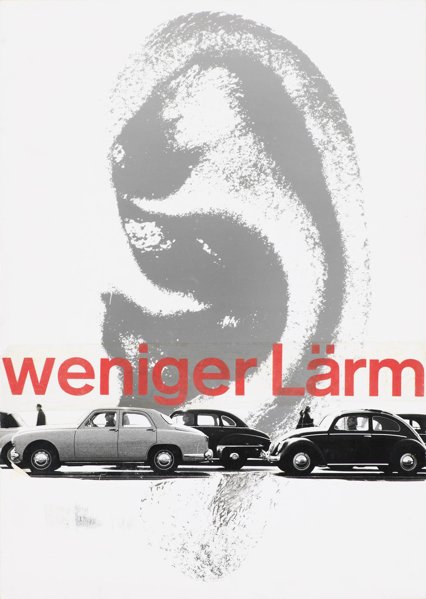 Weniger Lärm Josef Müller-Brockmann Plakat