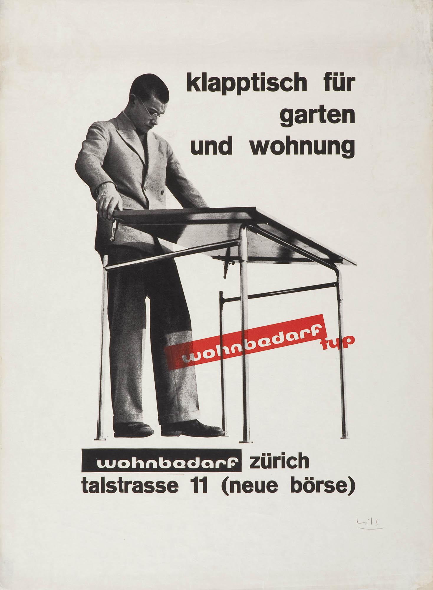 Wohnbedarf Zürich Max Bill Poster