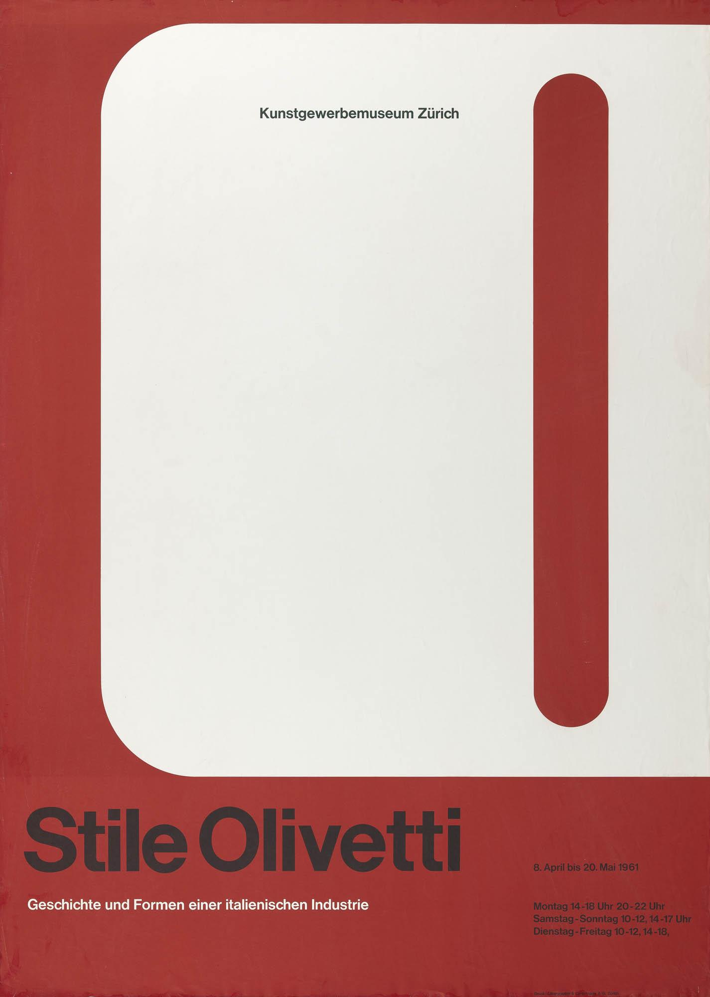 Stile Olivetti Walter Ballmer Plakat