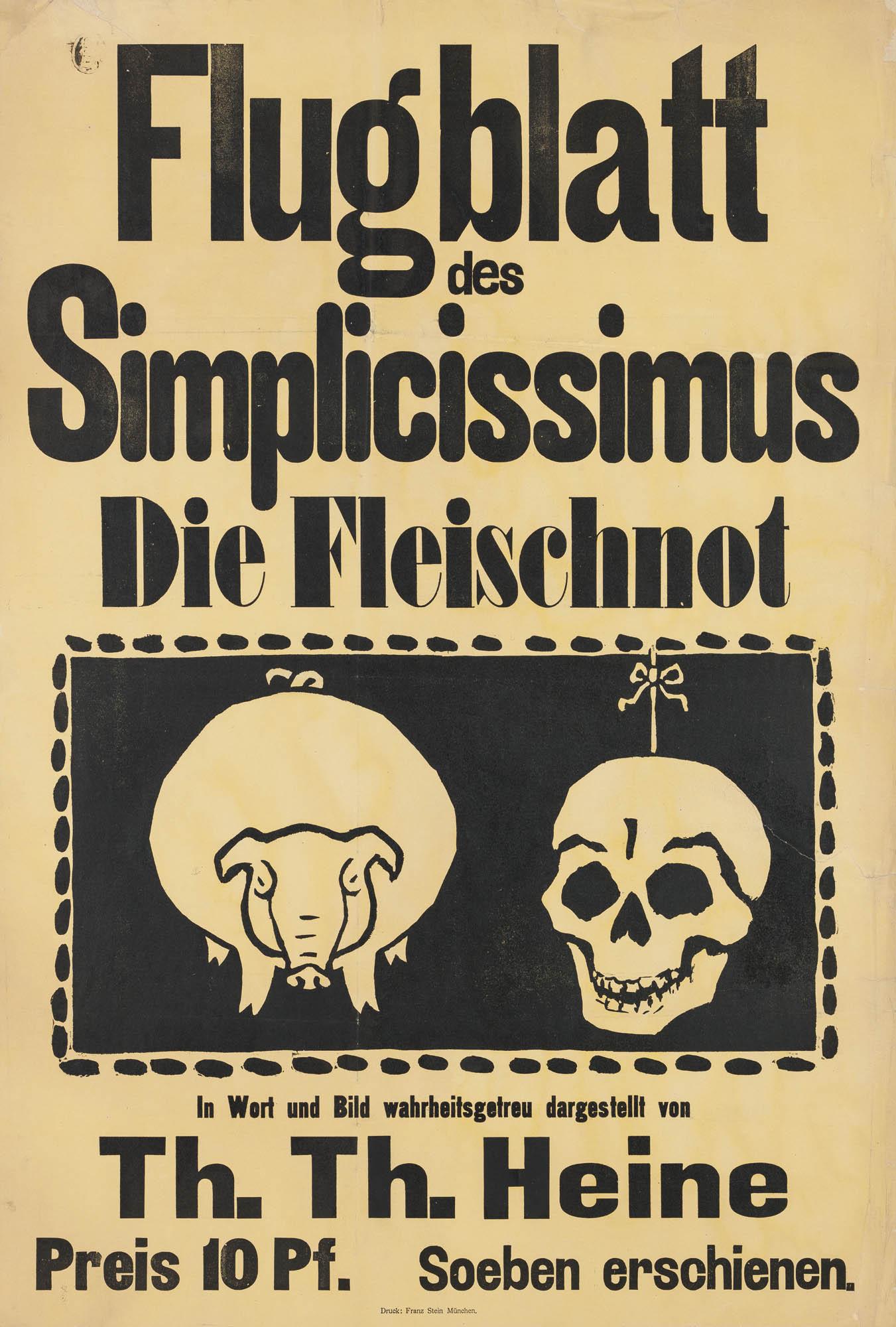 Simplicissimus Thomas Theodor Heine Affiche