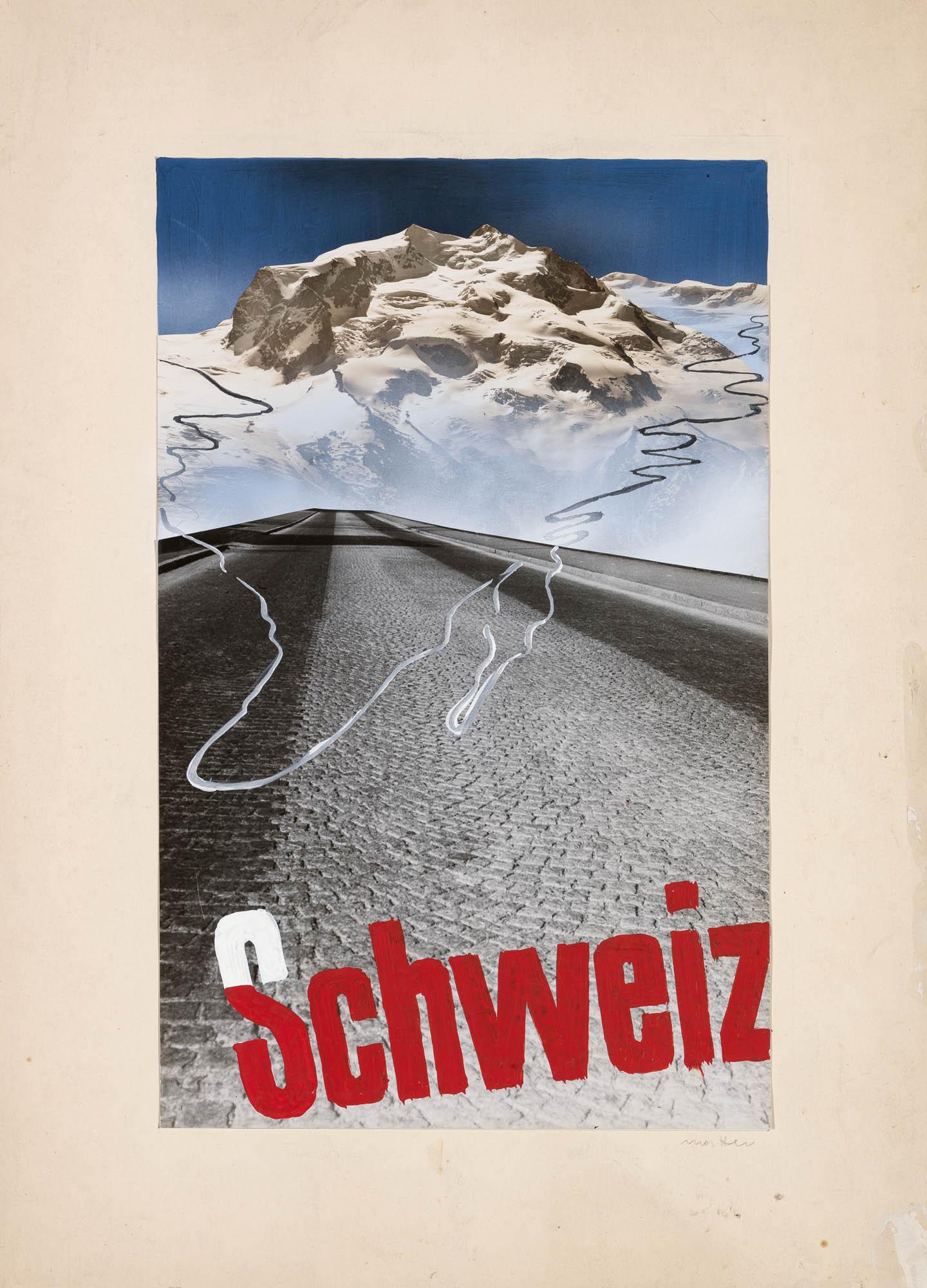 Für schöne Autofahrten die Schweiz Herbert Matter Affiche