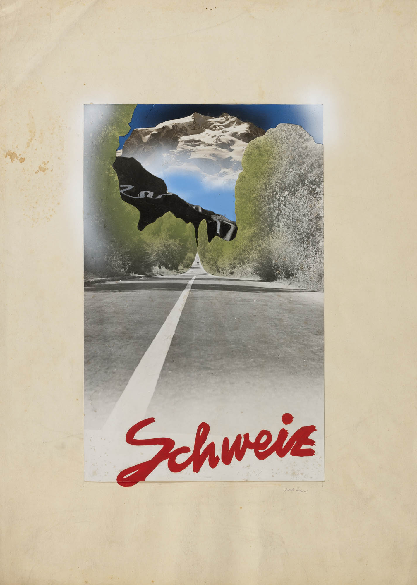 Für schöne Autofahrten die Schweiz Herbert Matter Poster
