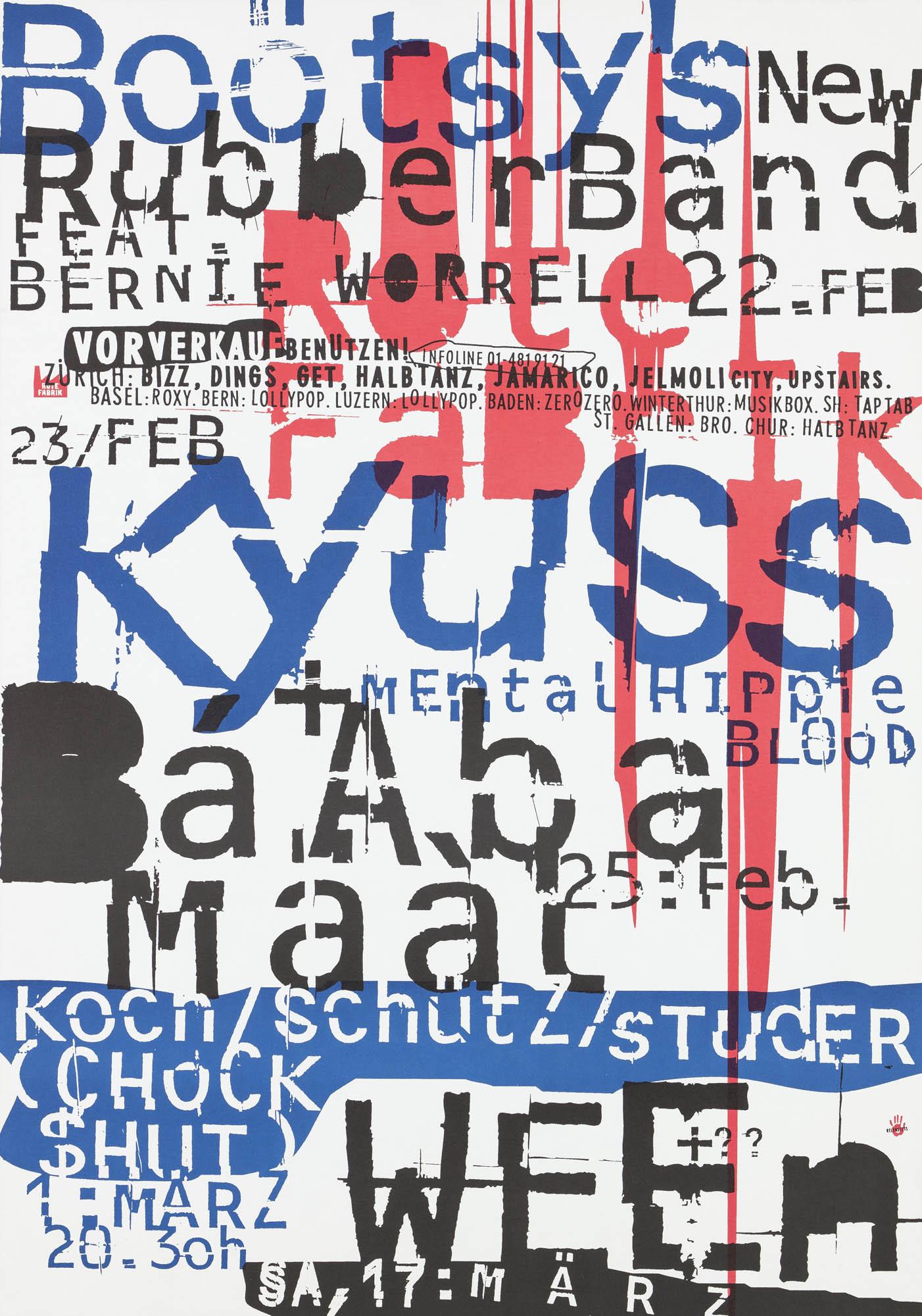 Mai 1994 – Rote Fabrik Cornel Windlin Affiche