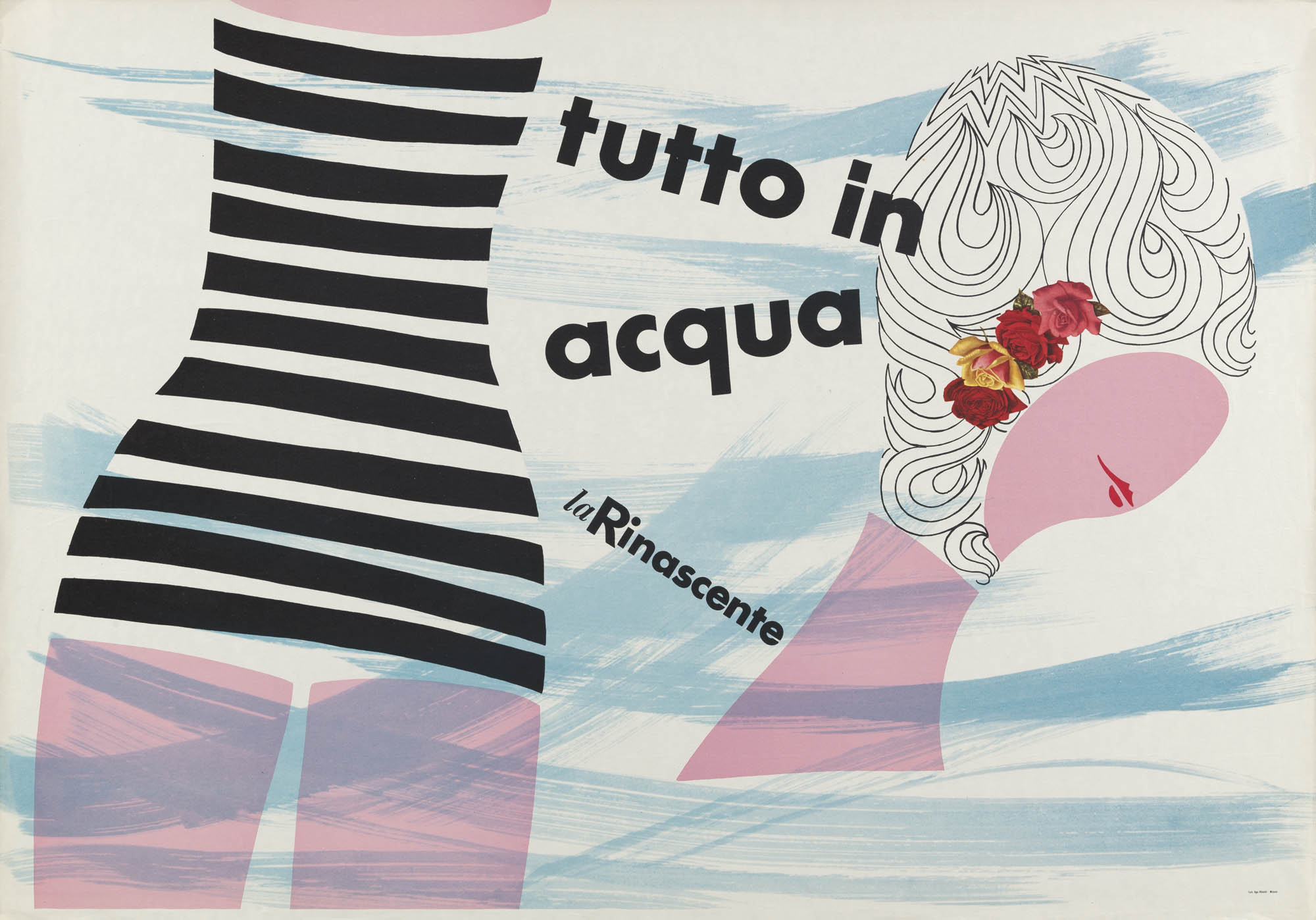 La Rinascente – Tutti in acqua Lora Lamm Poster