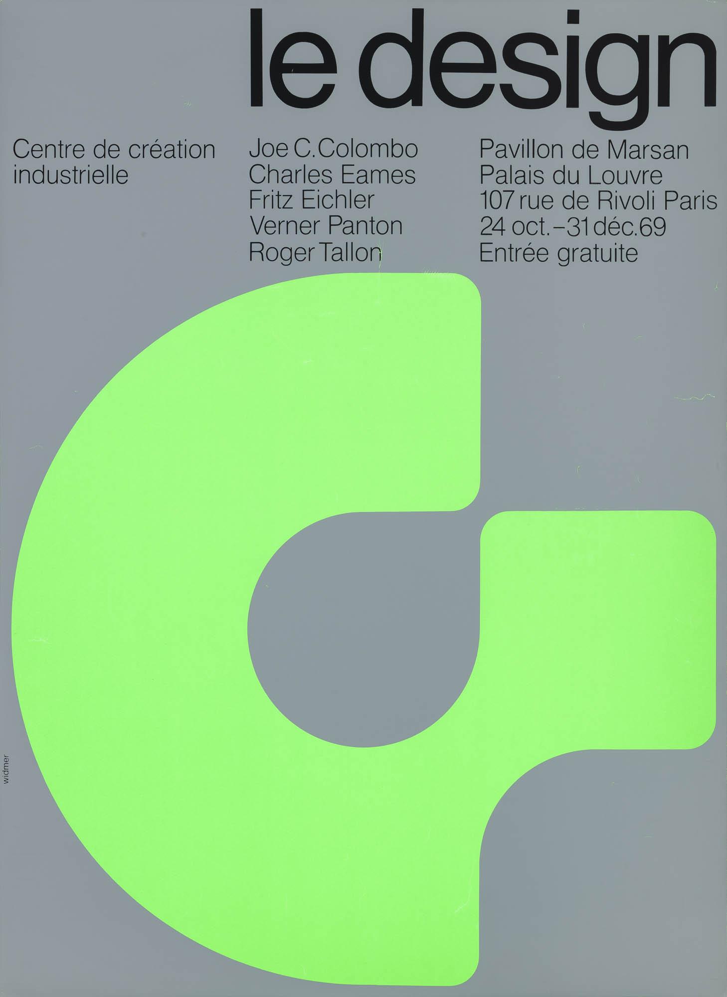 Centre de Création Industrielle – Design français Jean Widmer Poster