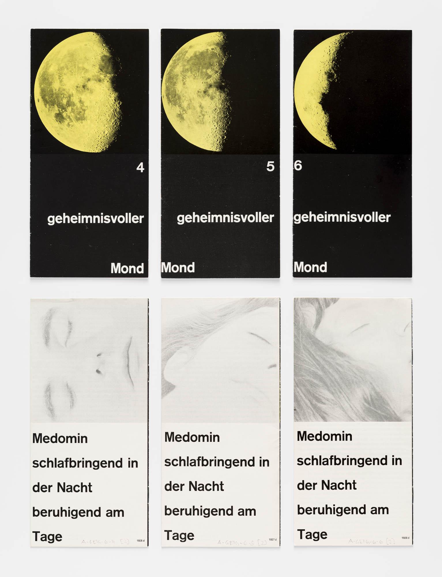 Geheimnisvoller Mond 1 – Medomin schlafbringend in der Nacht beruhigend am Tag Gérard Ifert Advertising brochure