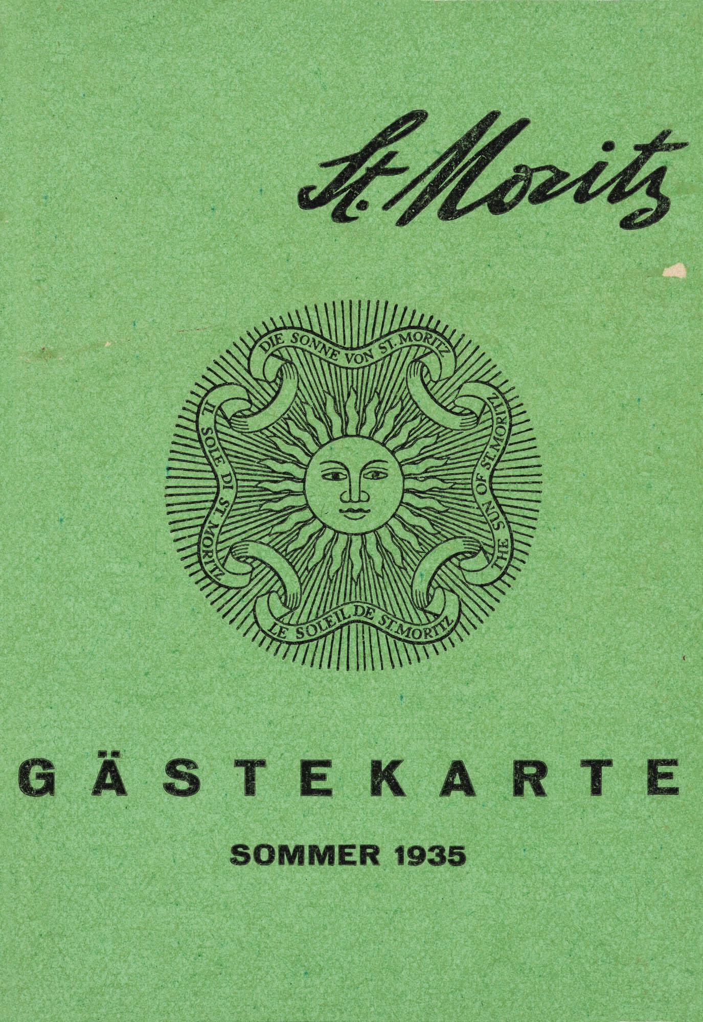 St. Moritz Walter Herdeg Étiquette bagages