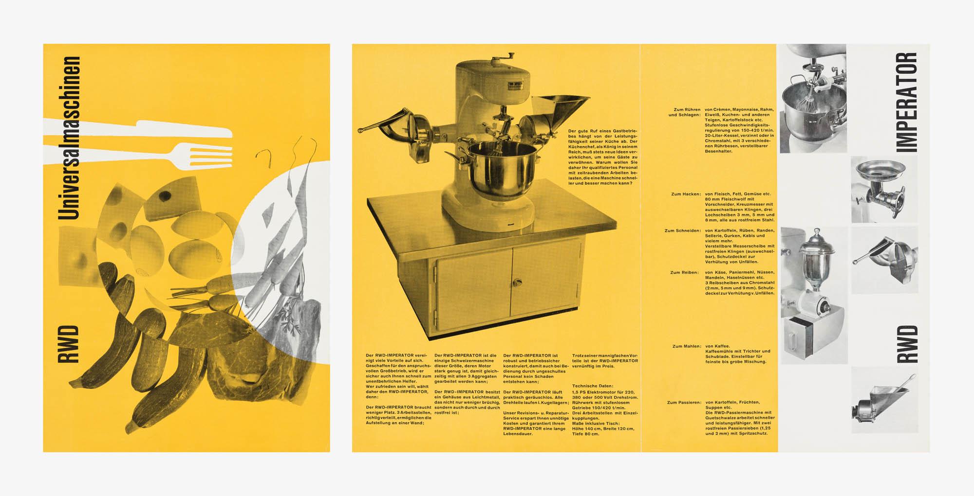 RWD (Zeichenmaschinen) – Reppisch-Werk AG Dietikon-Zürich/Schweiz Atelier Müller-Brockmann