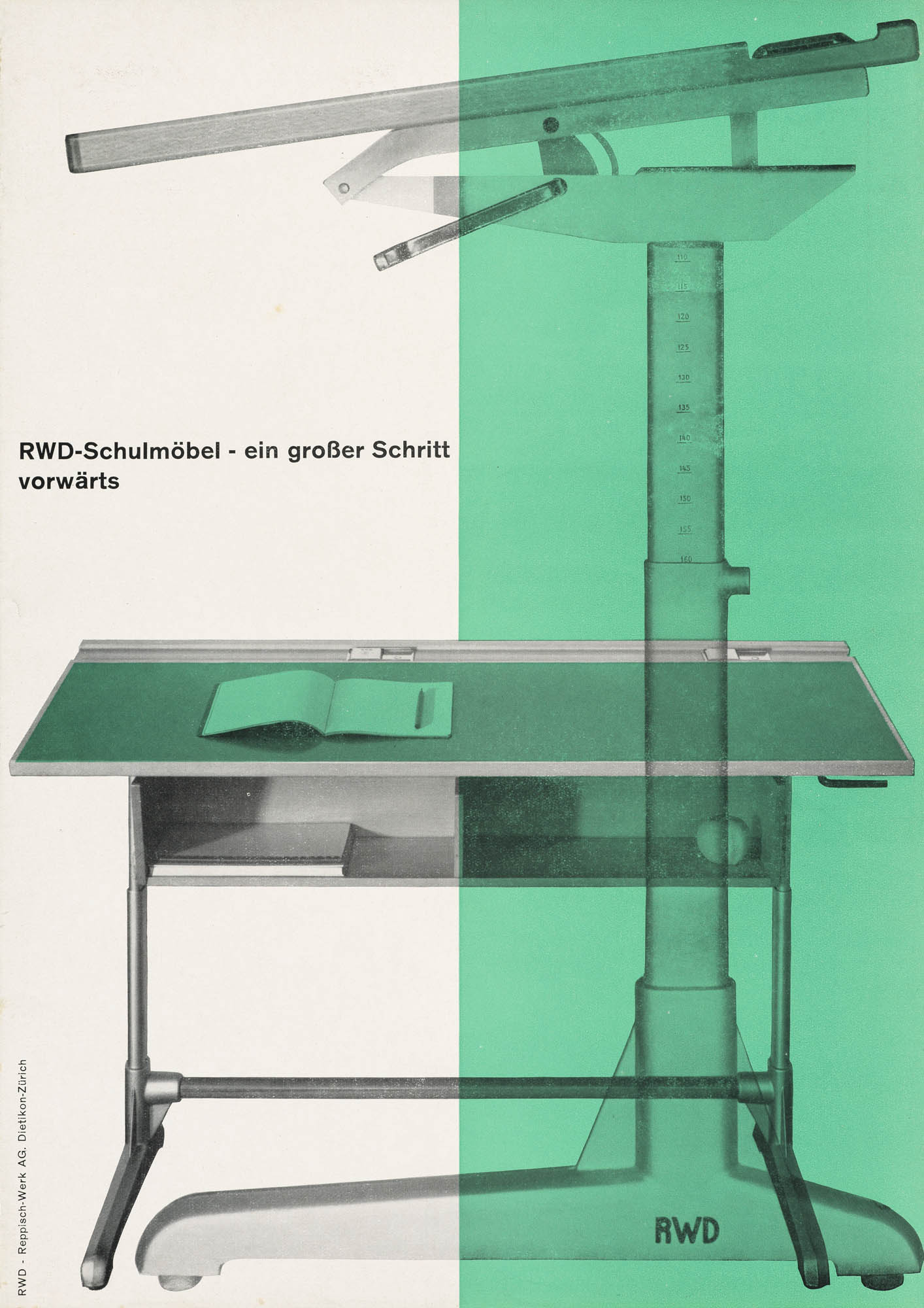 RWD (Zeichenmaschinen) – Reppisch-Werk AG Dietikon-Zürich/Schweiz Atelier Müller-Brockmann Werbebroschüre