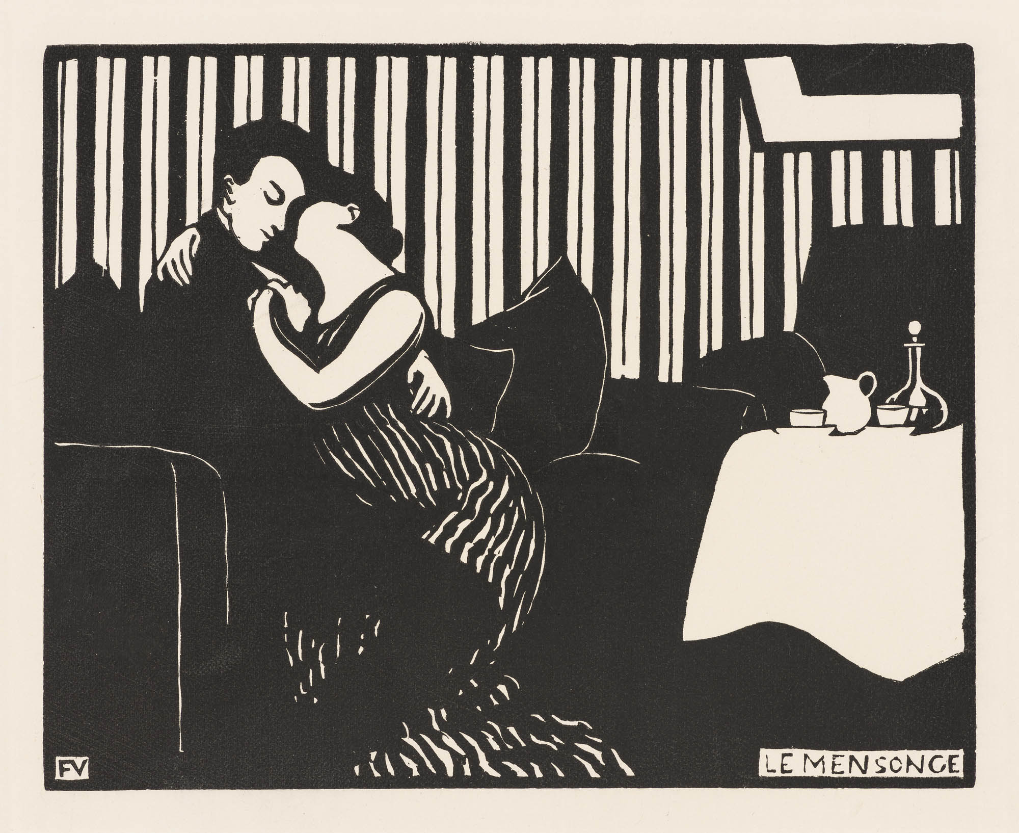 L'Irréparable (Serie der Intimités X) Félix Vallotton