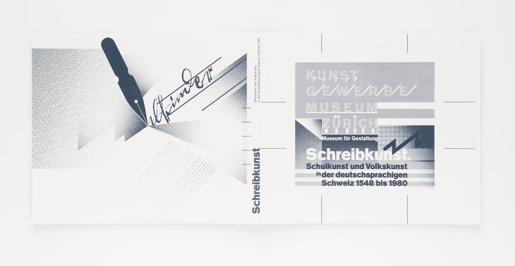 Kunstgewerbemuseum Zürich – Schreibkunst Wolfgang Weingart Plakatentwurf