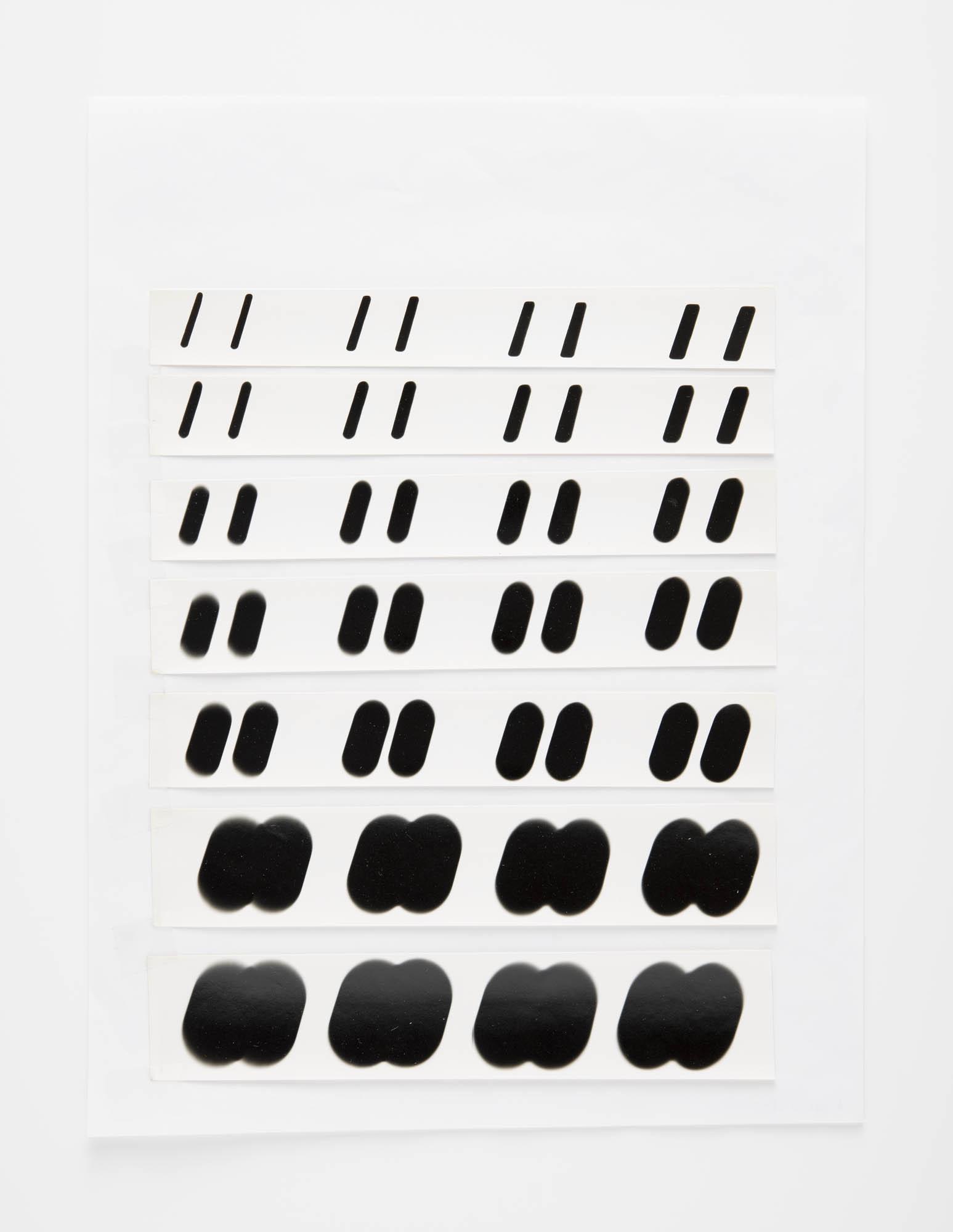 Foto optisches Experiment mit dem Buchstaben M Wolfgang Weingart