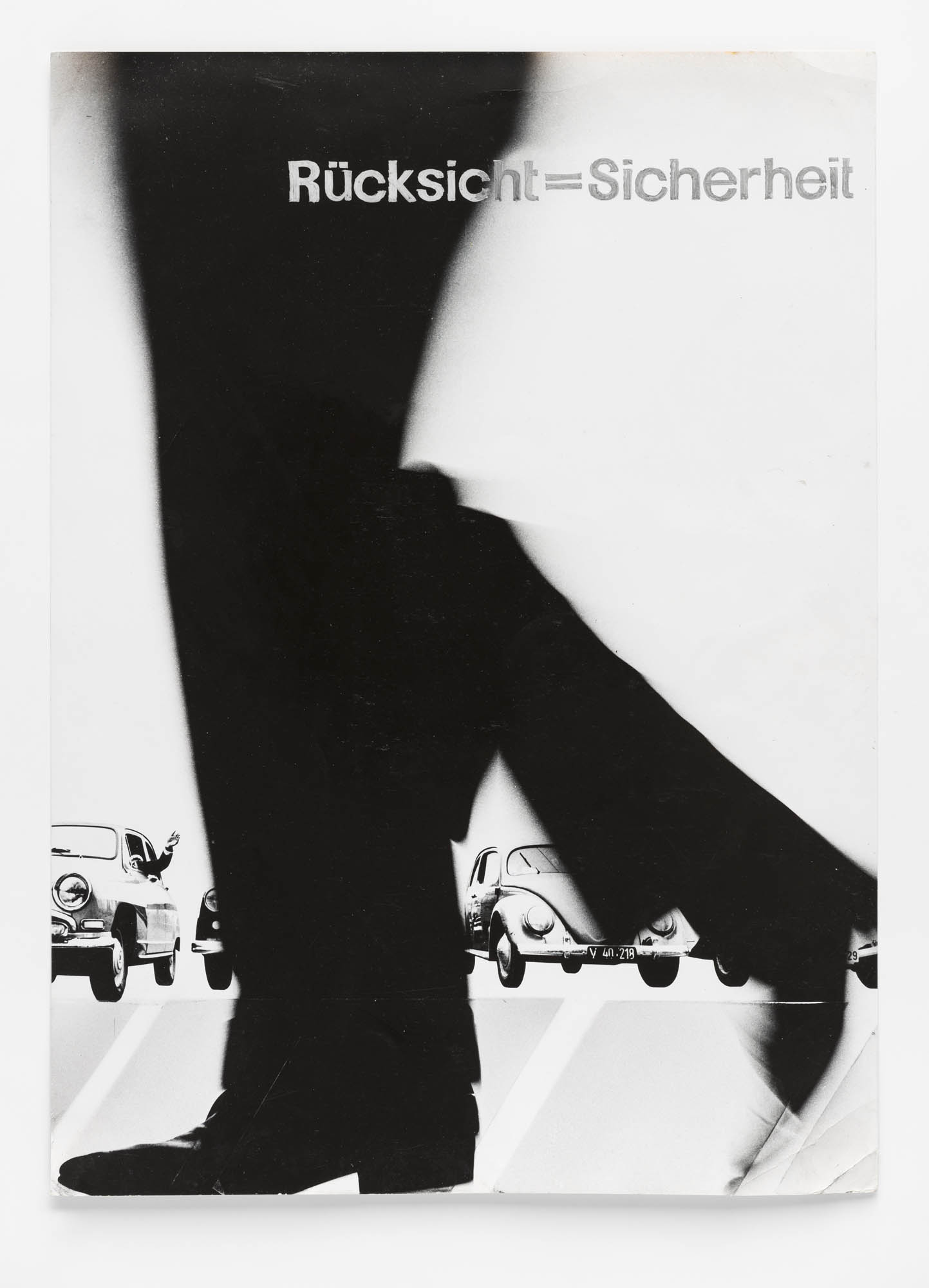 Weniger Lärm Josef Müller-Brockmann Plakatentwurf