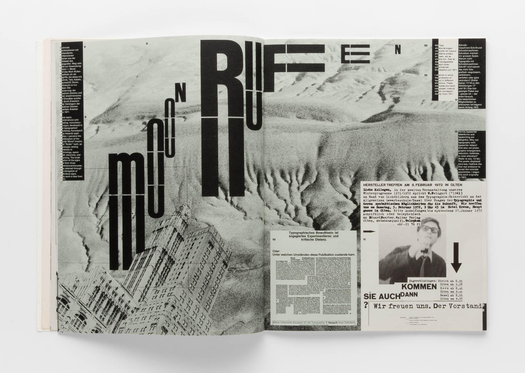 Moon Rufen Wolfgang Weingart Artists' book