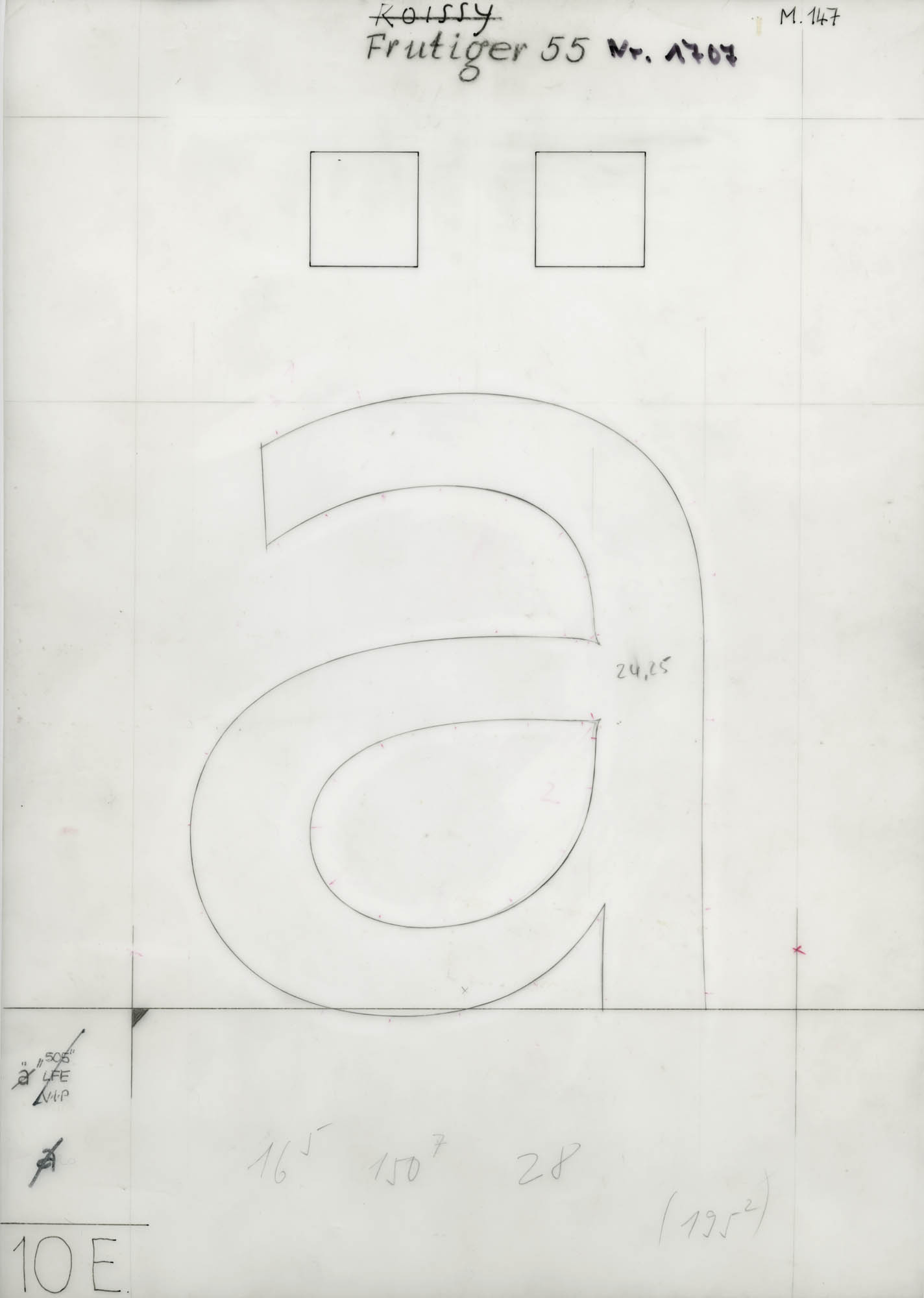 Douane Adrian Frutiger Typeface design