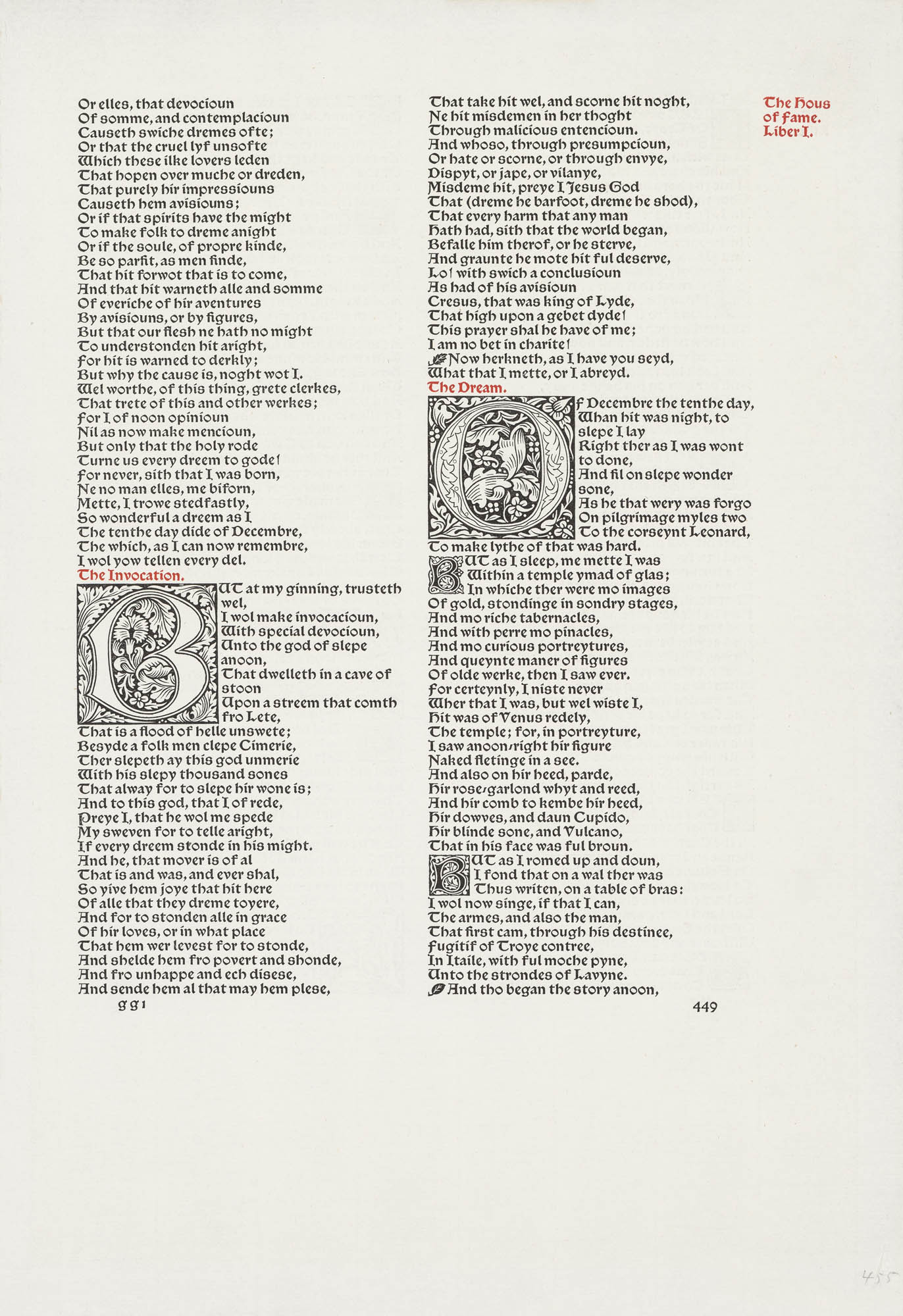 The Works of Geoffrey Chaucer William Morris Buch