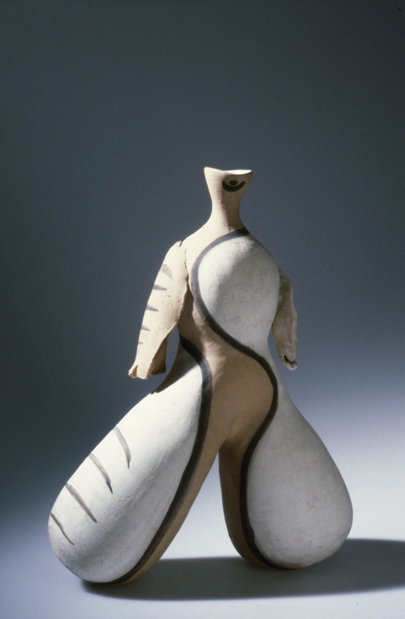 Gelber Vogel Margrit Linck-Daepp Vessel sculpture
