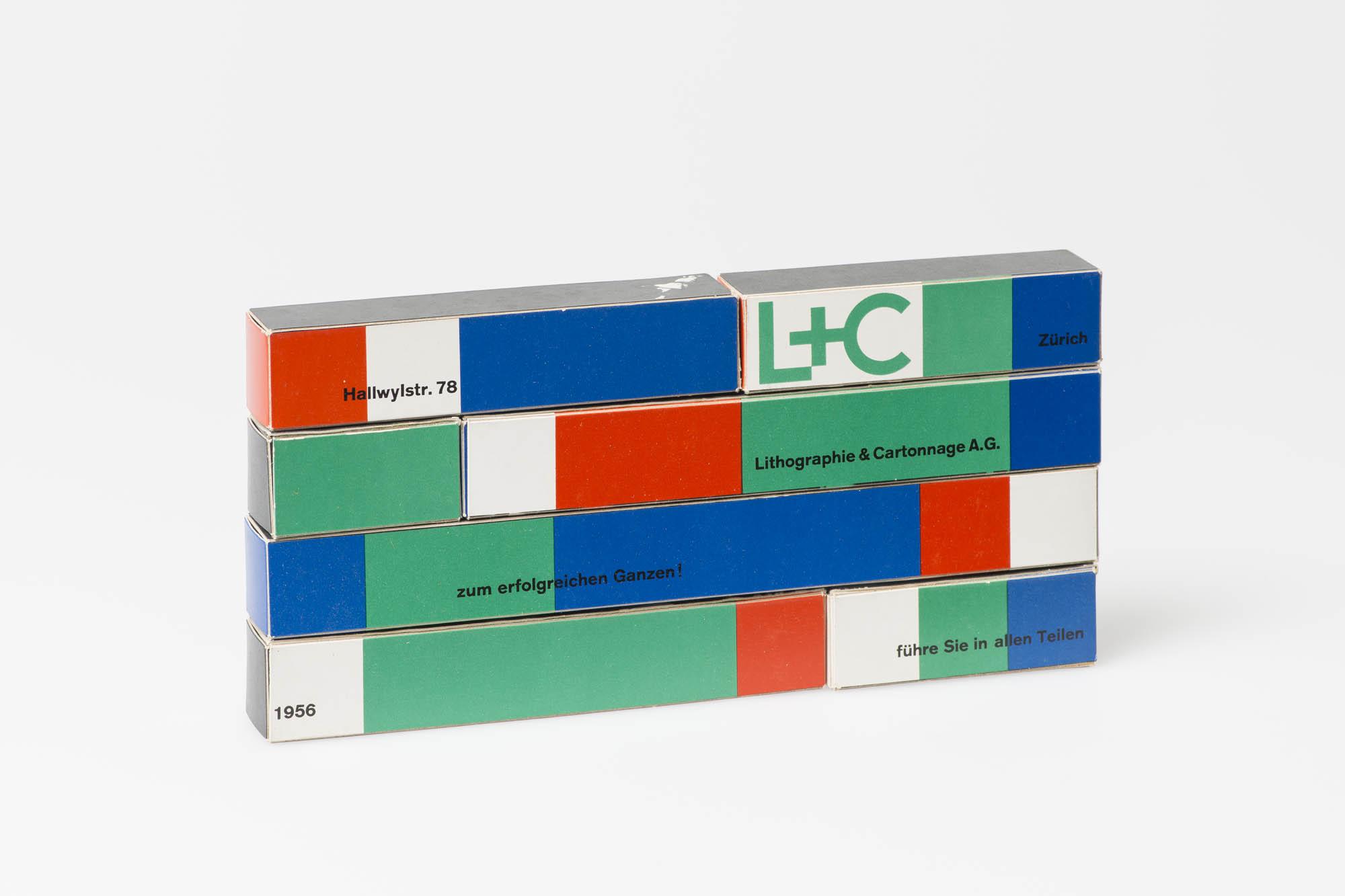 Lithographie & Cartonnage AG – Führe Sie in allen Teilen – zum erfolgreichen Ganzen! Atelier Müller-Brockmann Nelly Rudin Neujahrskarte