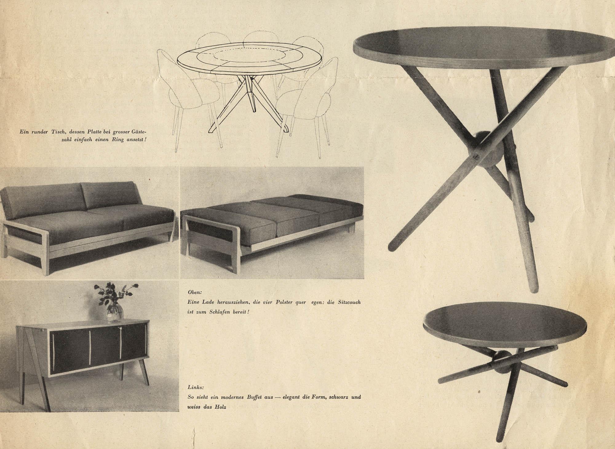 S.T.-Tisch Jürg Bally Table à hauteur réglable