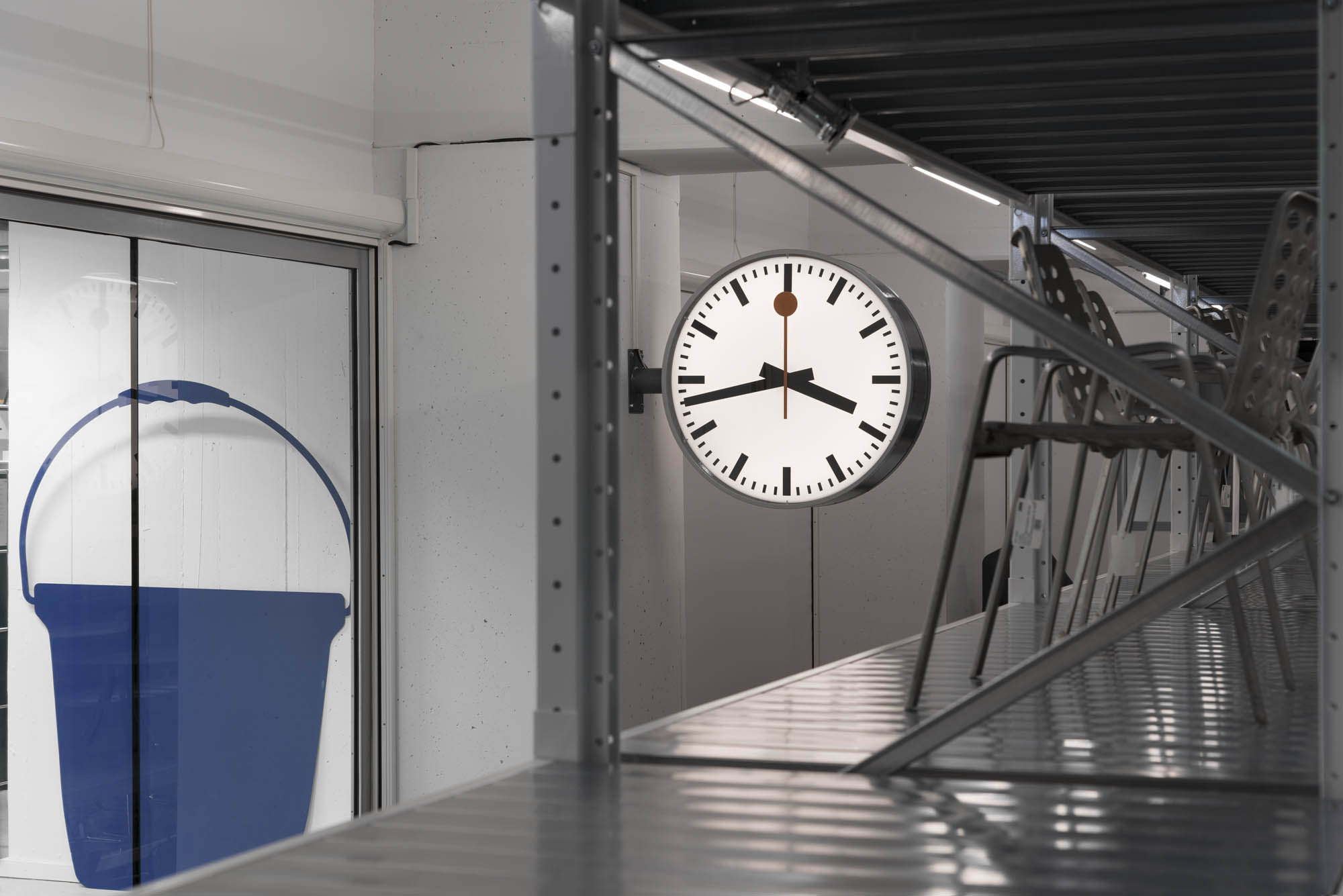 SBB Bahnhofsuhr Hans Hilfiker Horloge