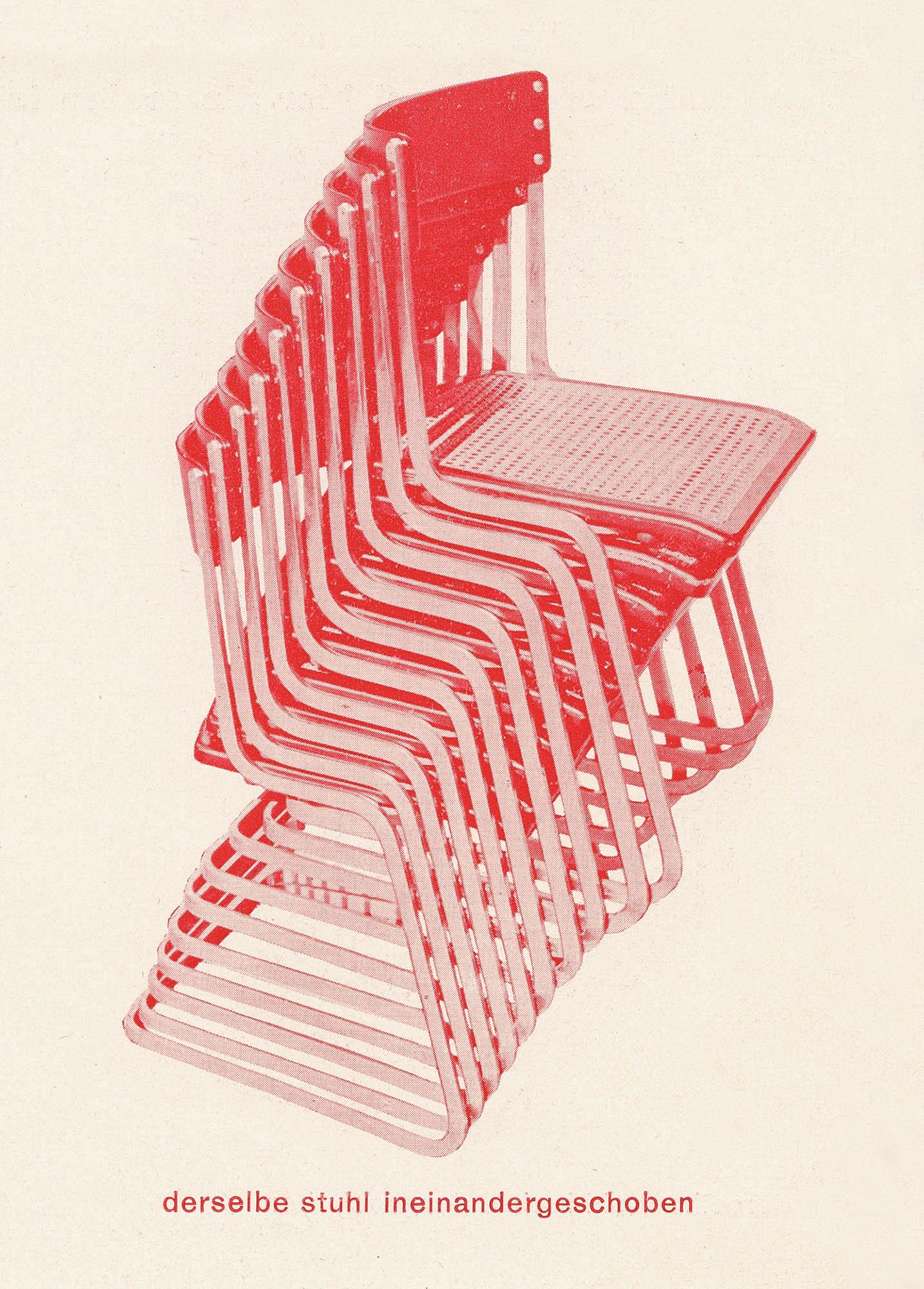 Wohnbedarf Modell 7, Exemplar Sigfried Giedion Flora Steiger-Crawford Steiger-Stapelstuhl