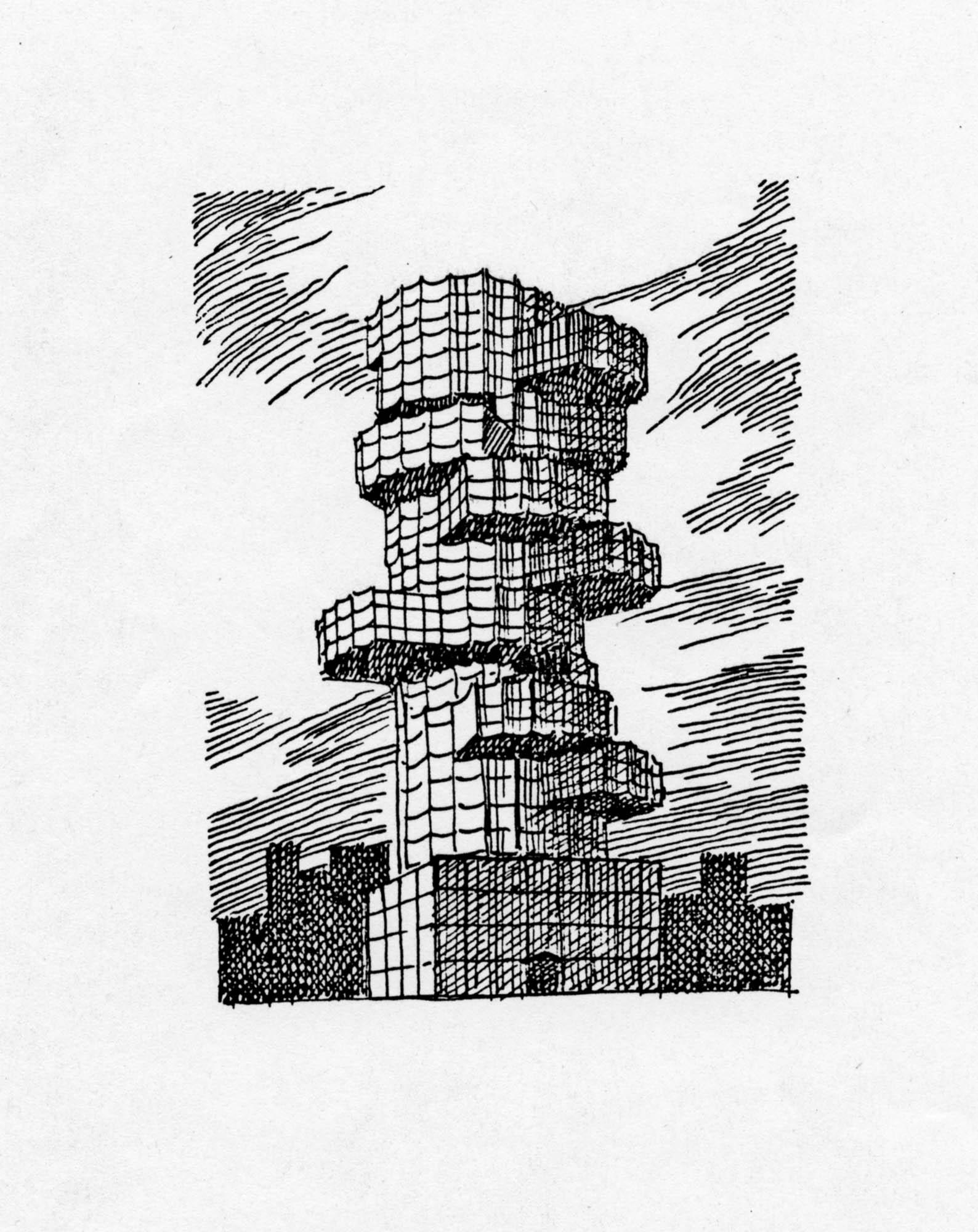 Säulenstumpf Robert Haussmann Trix Haussmann
