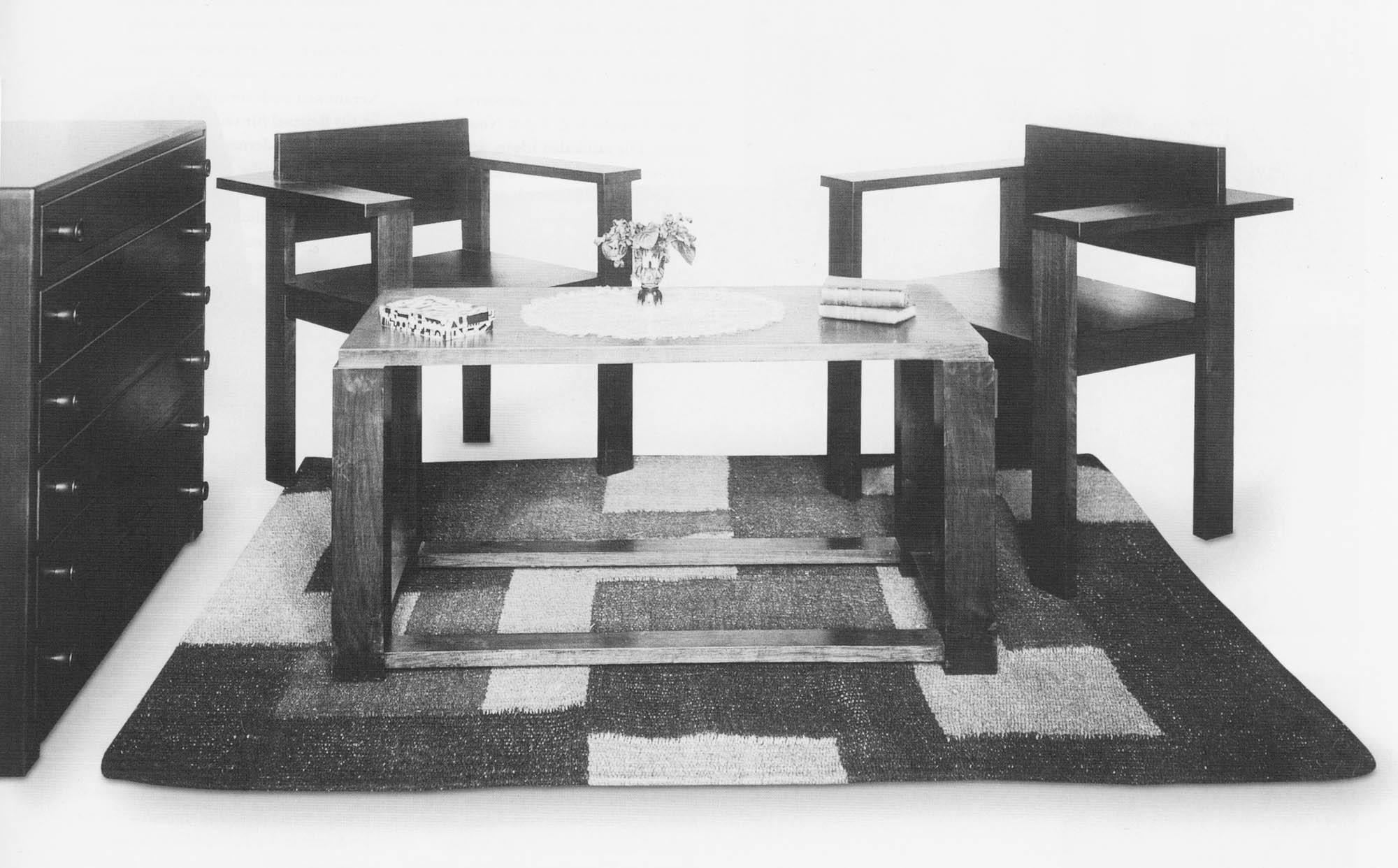 Einrichtung für den Empfangsraum Architekturbüros Von der Mühll Henri-Robert Von der Mühll Stuhl