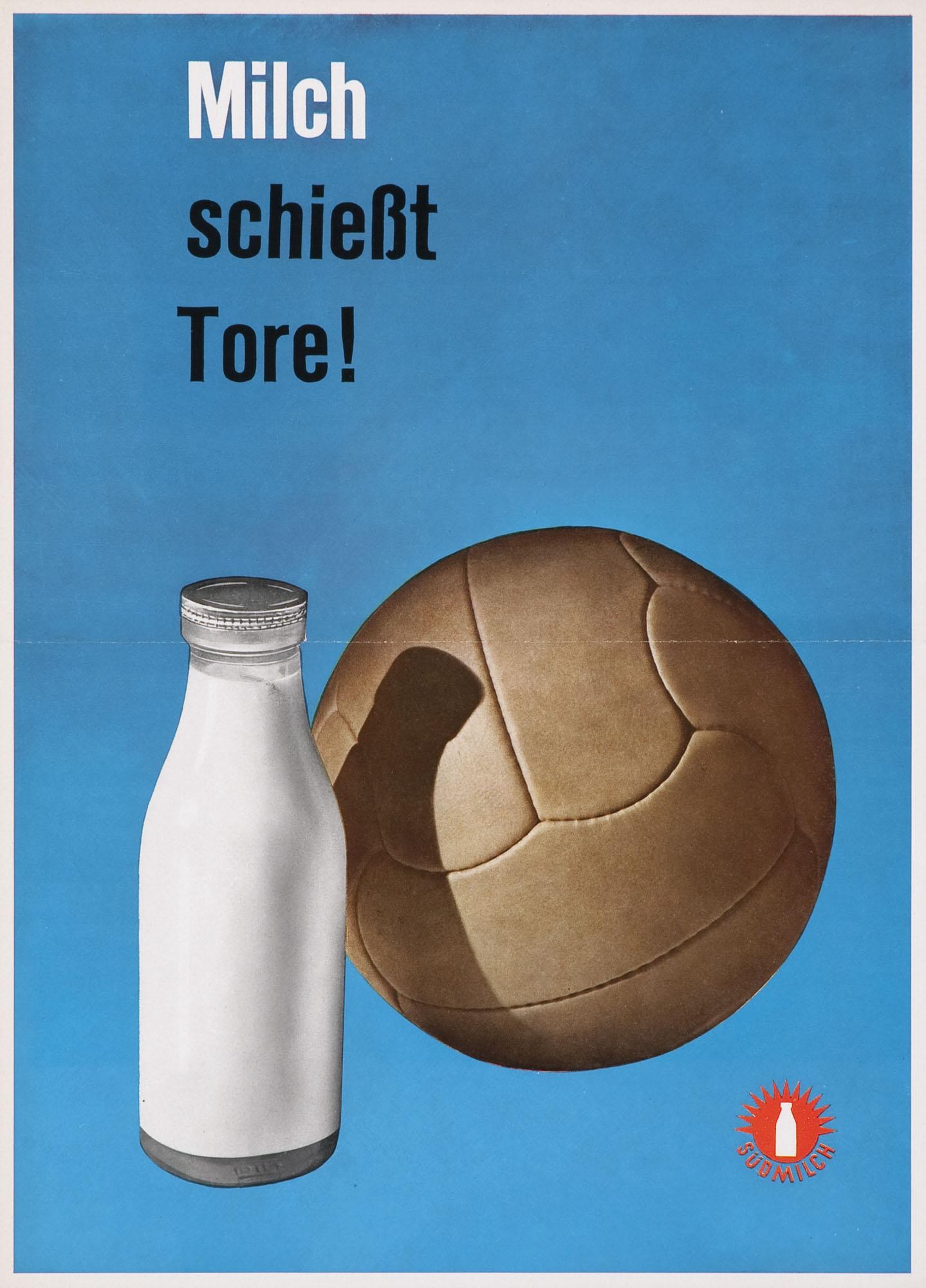 Milch macht jung und schön Anton Stankowski Plakat