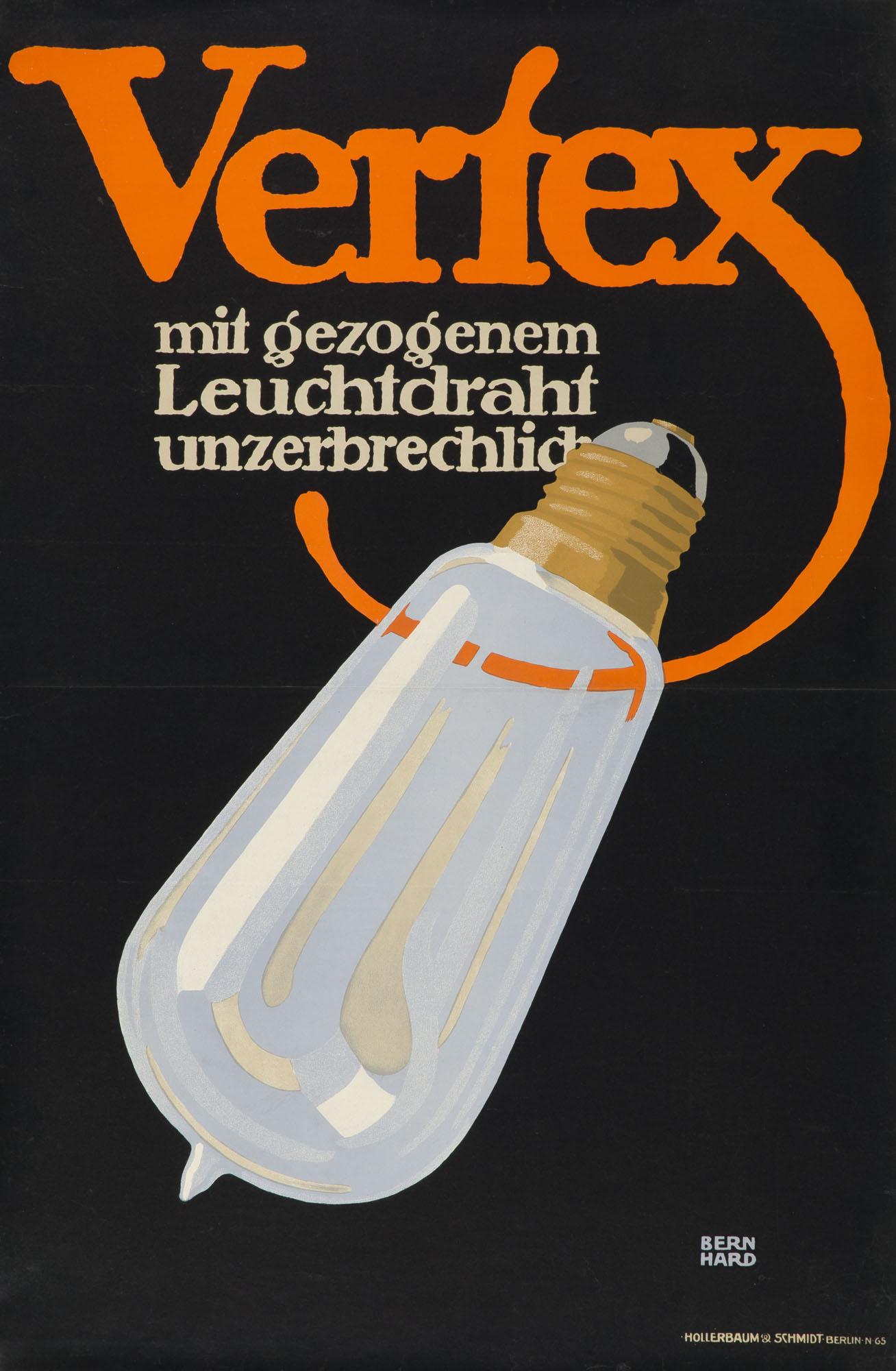 Wohnungsreinigung mit Saugluft Lucian Bernhard Poster
