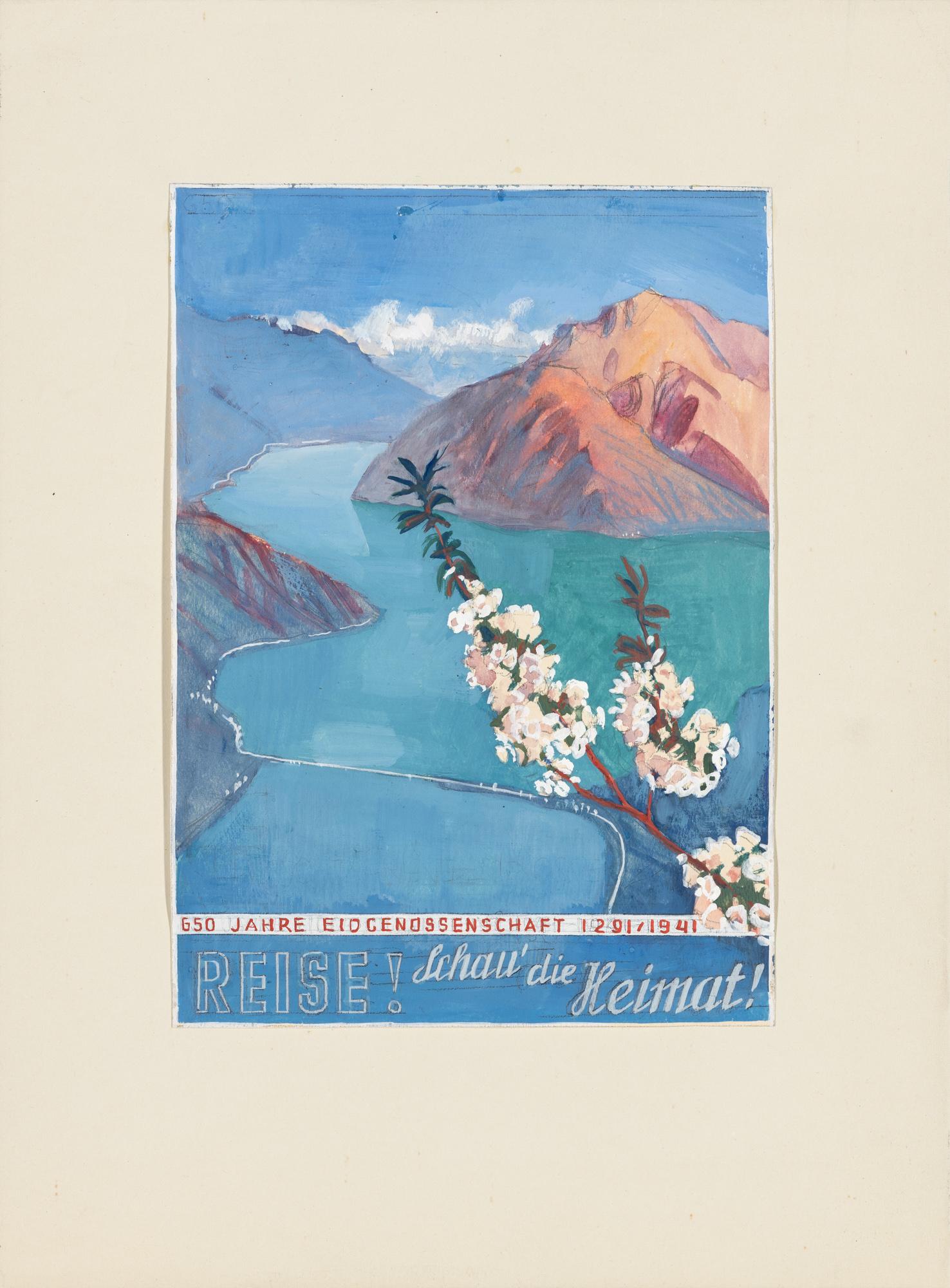 Bereise Dein Heimatland! Otto Baumberger Poster design
