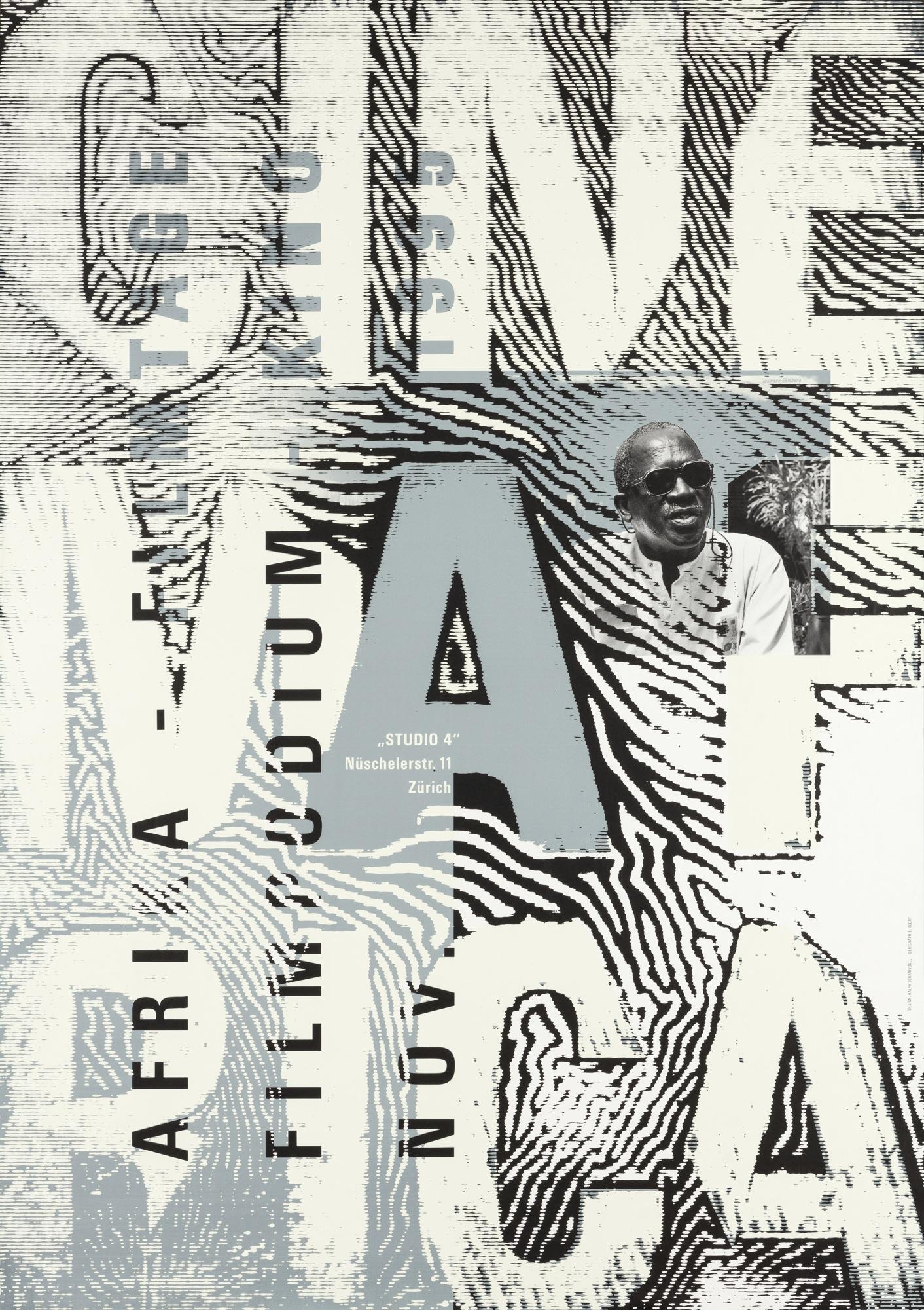 Cinema Africa Ralph Schraivogel Poster