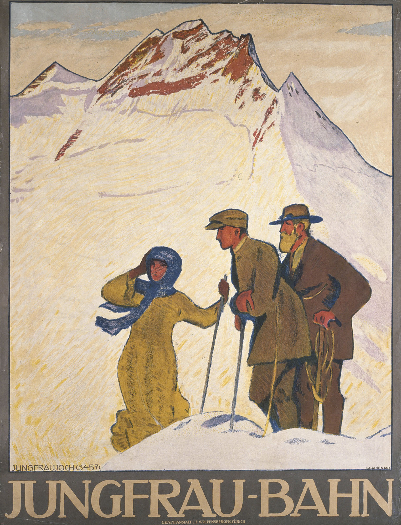 Zermatt Emil Cardinaux Poster
