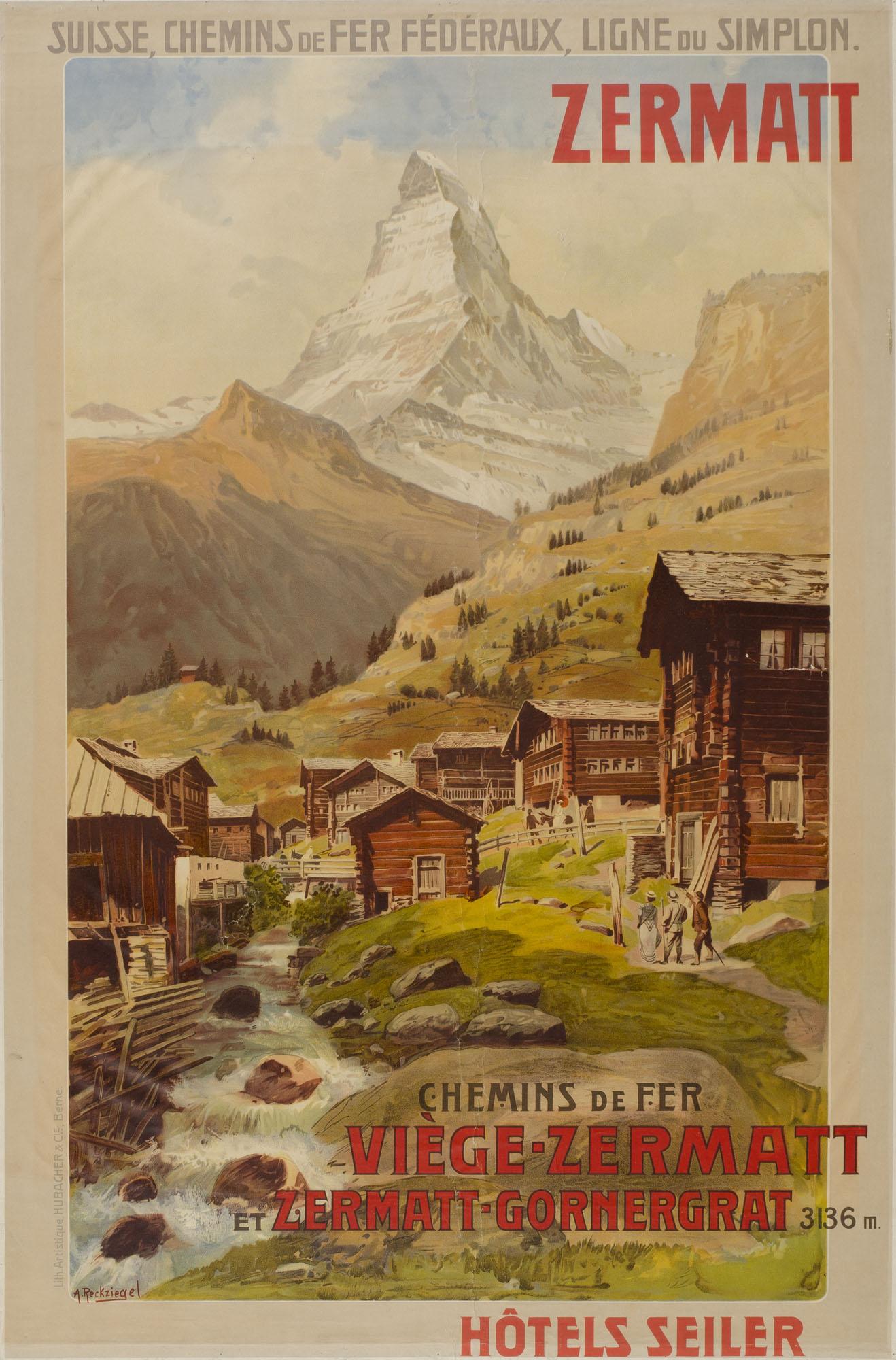 Zermatt Emil Cardinaux Plakat
