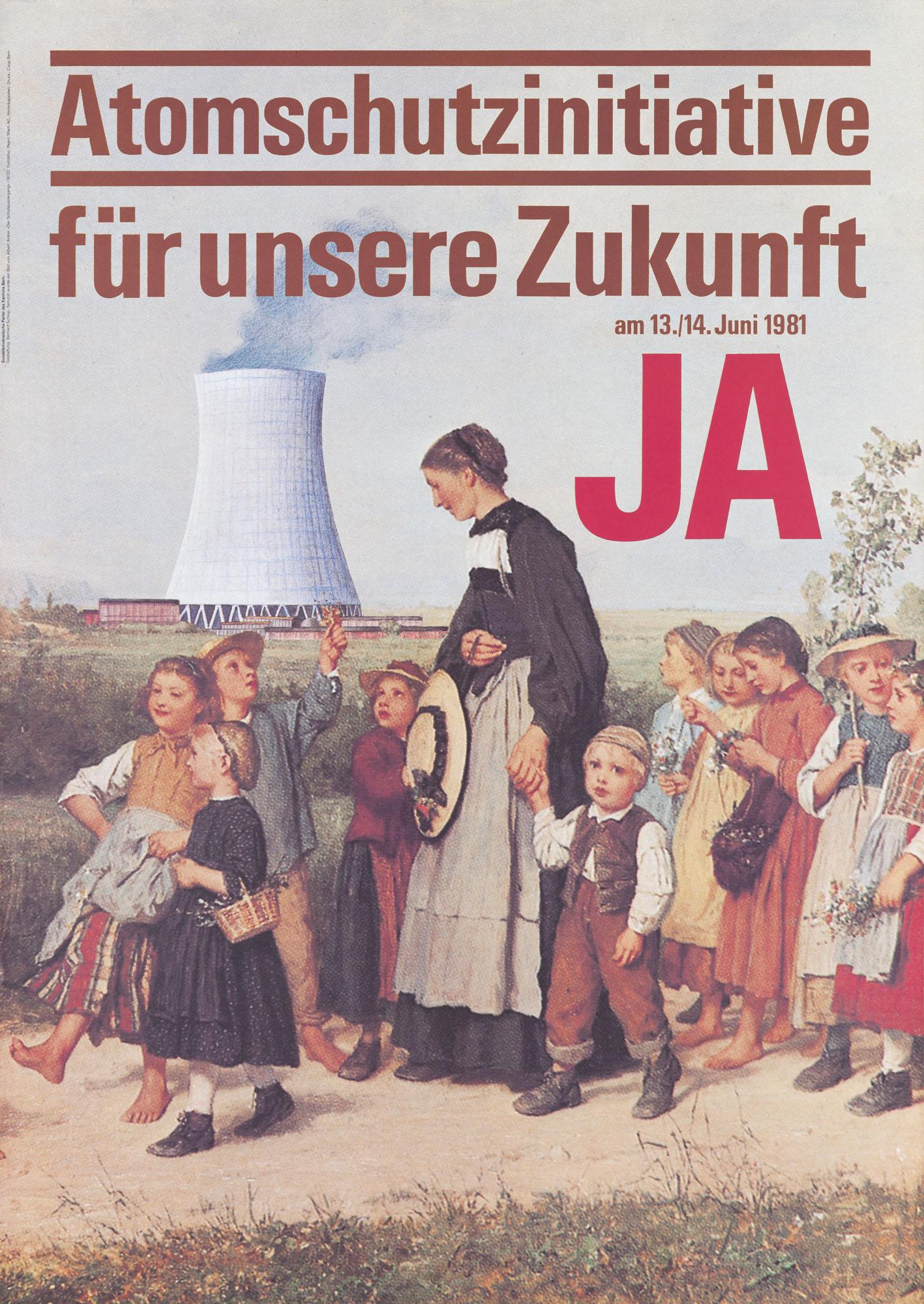 Atomschutz Ja Pierre Brauchli Poster
