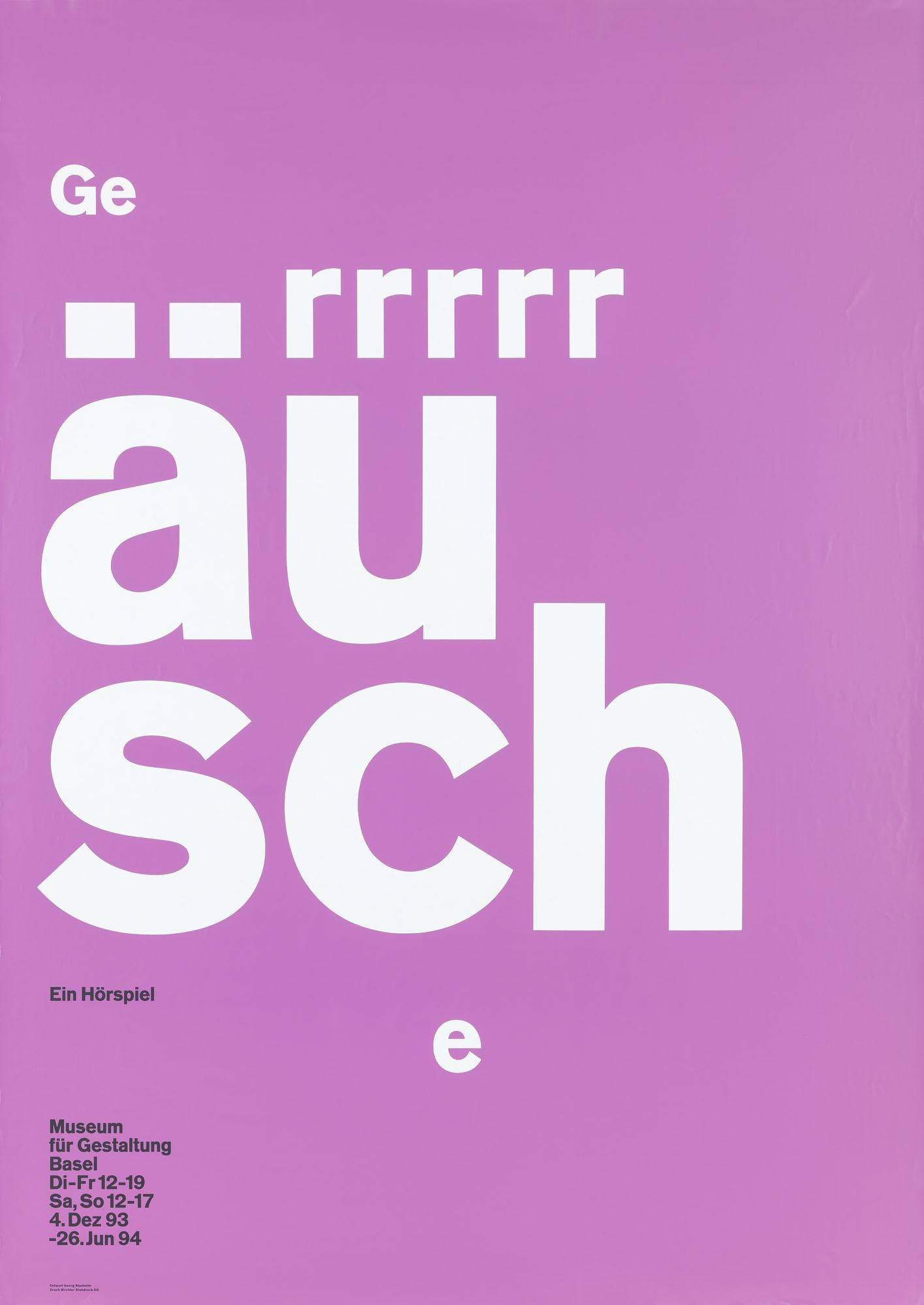 Netto – Nichts als Inhalt Georg Staehelin Poster